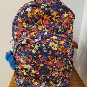 Kipling Seoul Large Laptop Backpack —stars